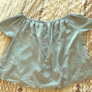 Gap off shoulder blouse